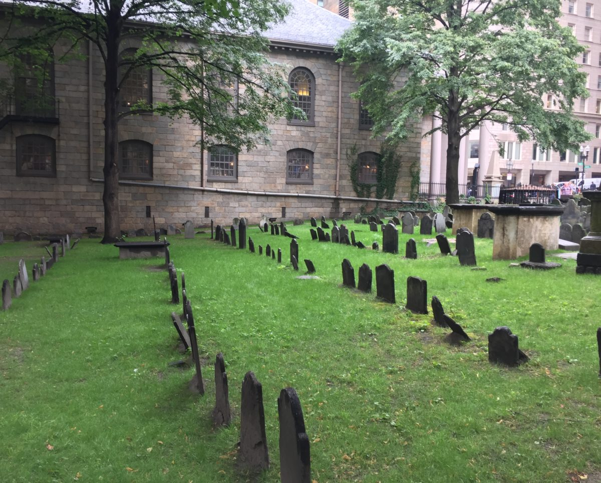 Follow the freedom trail to King's Chapel Burying Ground